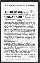 Ganne Henri en Gustaaf