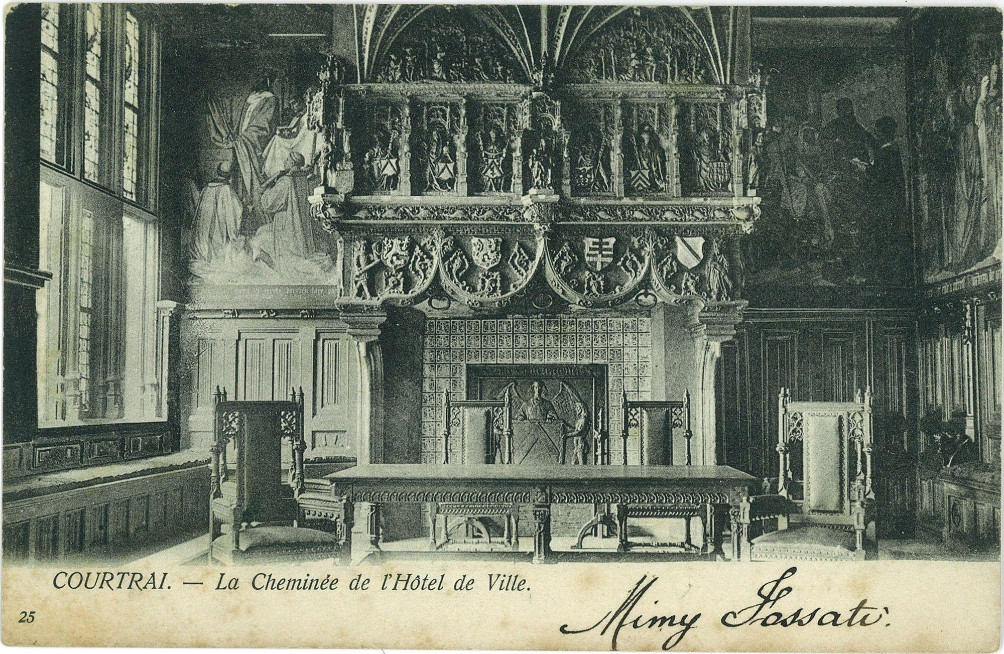 De trouwzaal in het Kortrijkse Stadhuis