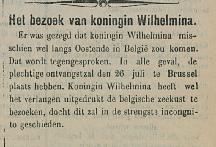 Het bezoek van koningin Wilhelmina