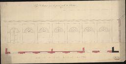 Bouwplan van een burgerlijke gevangenis te Kortrijk, opgemaakt door C. Dehults, 19de eeuw