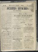 Petites Affiches De Courtrai 1841-07-07