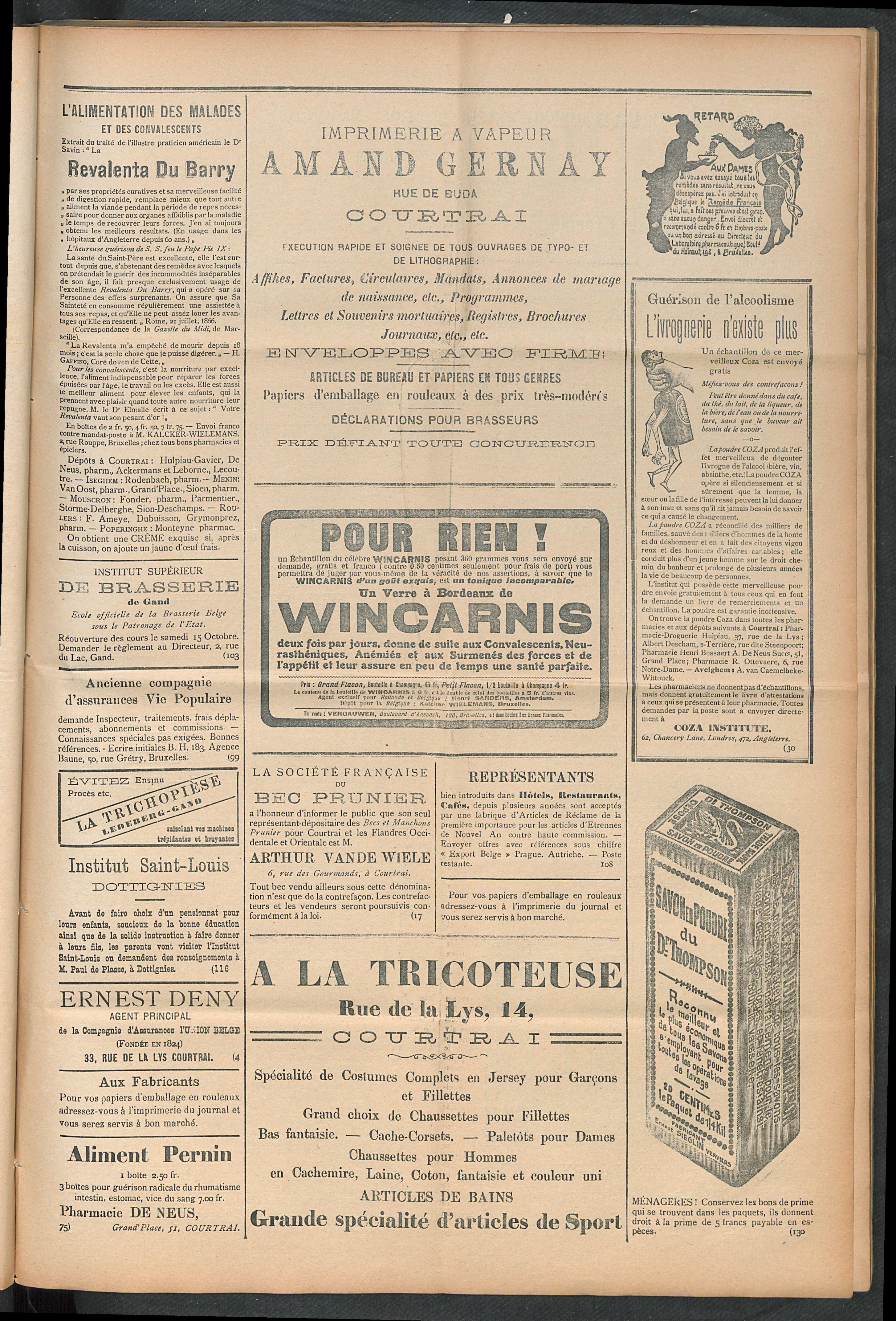 L'echo De Courtrai 1910-09-01 p3