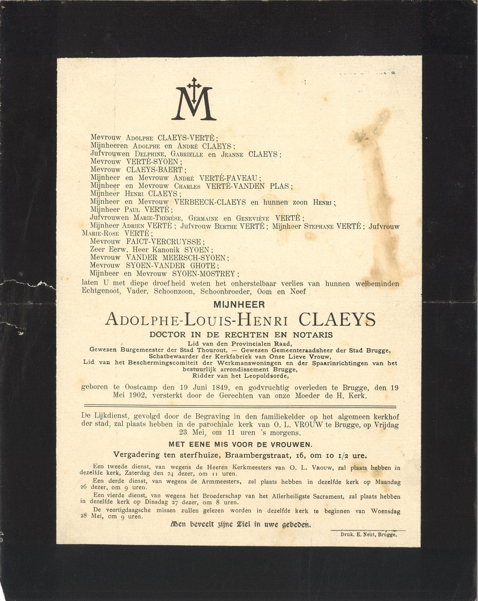 Adolphe-Louis-Henri Claeys