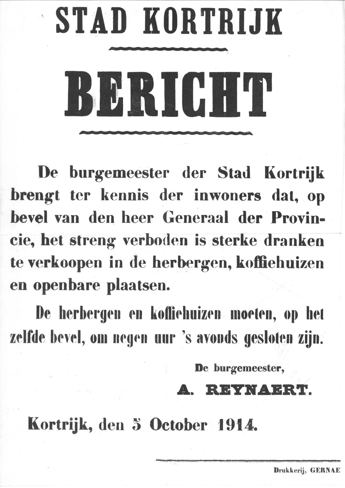 Drankenverbod in 1914