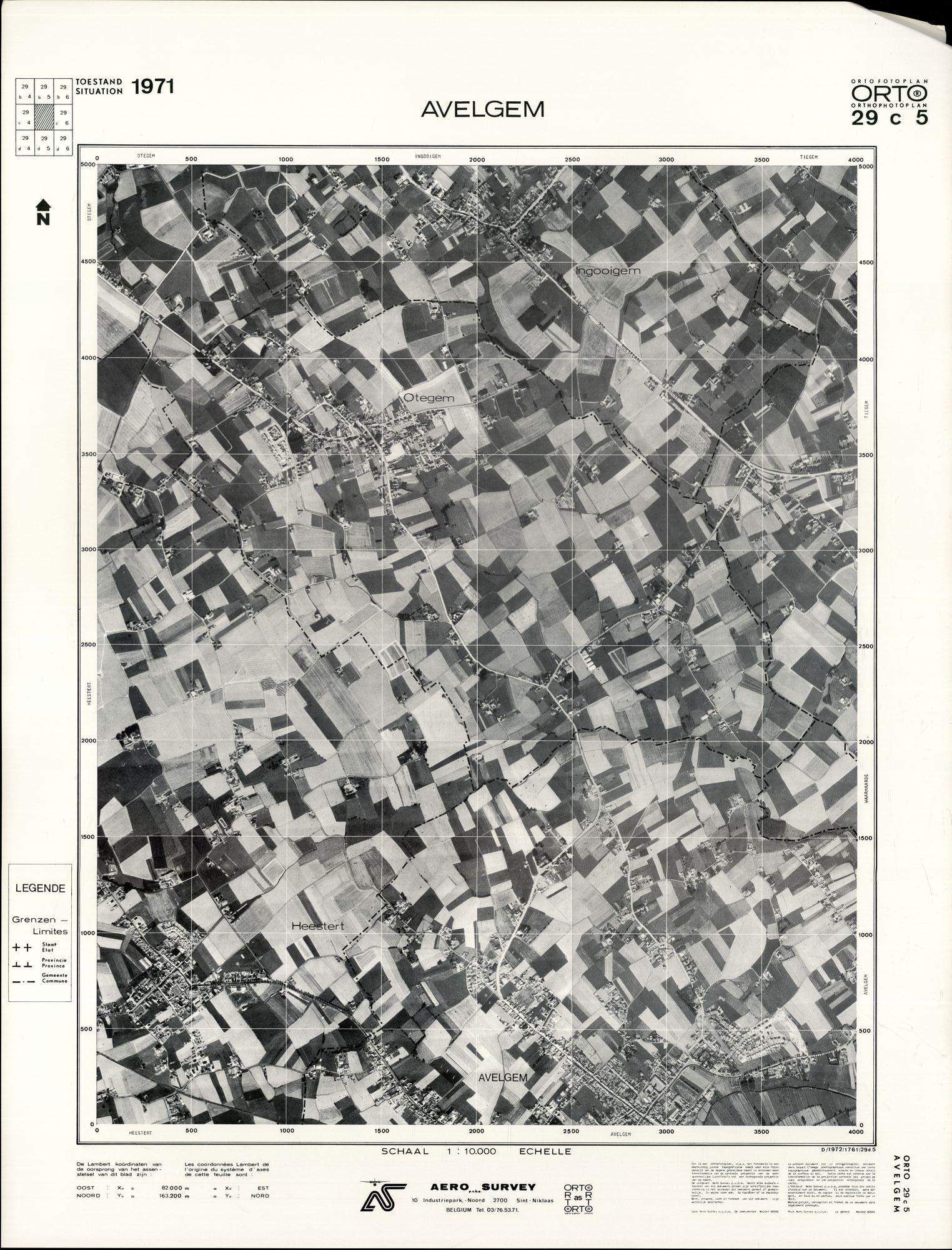 Luchtfoto Avelgem 1971