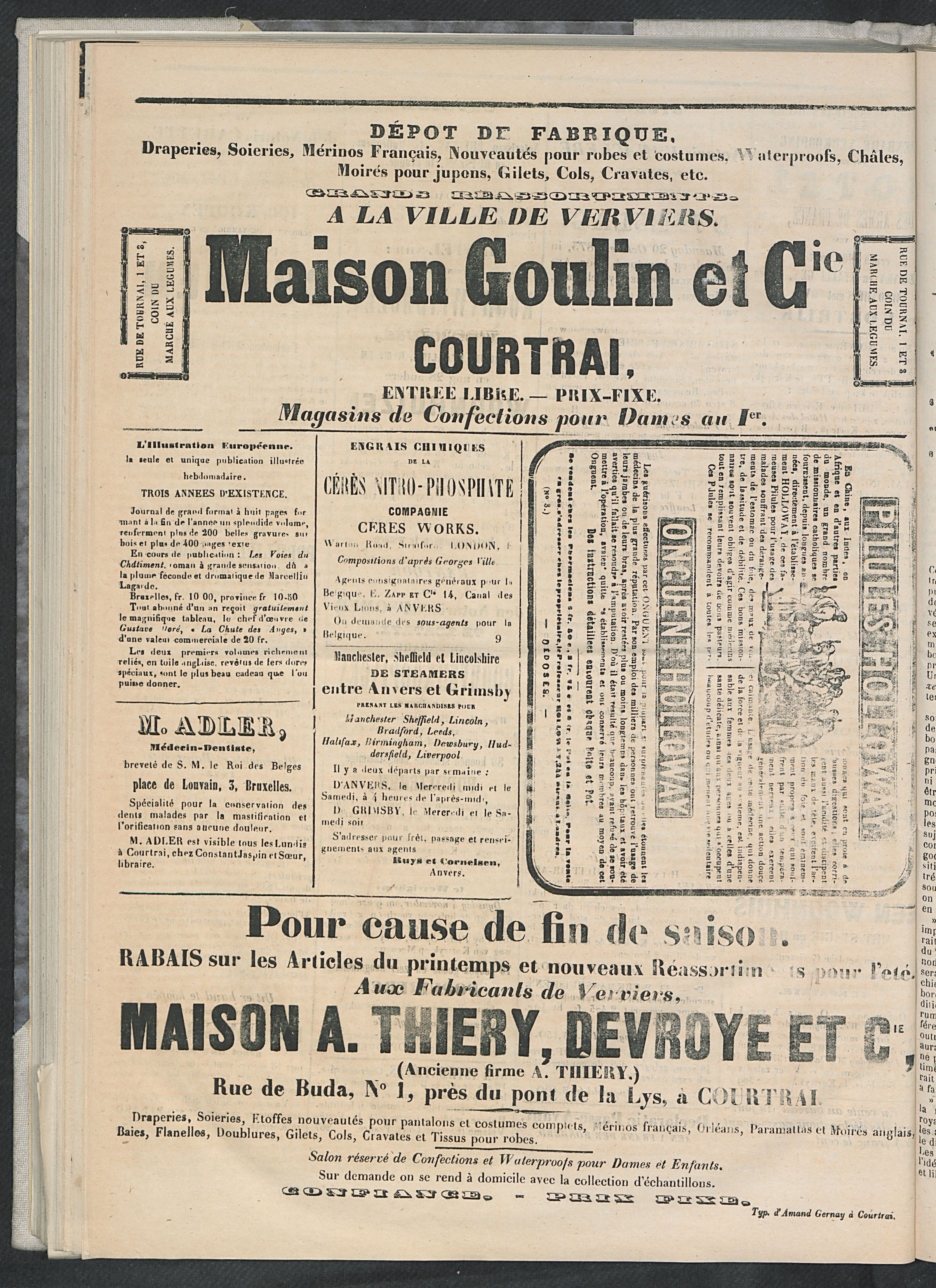 L'echo De Courtrai 1873-10-16 p4
