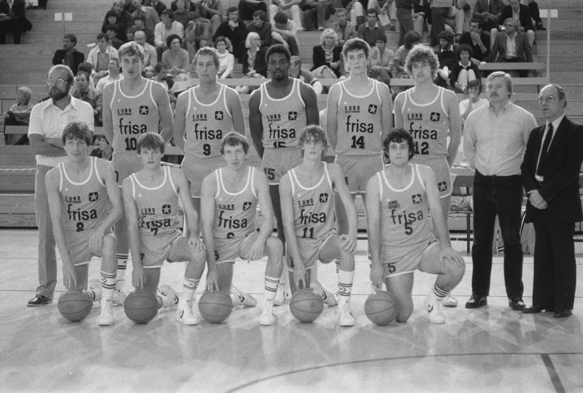Basketbalploeg Frisa in 1982
