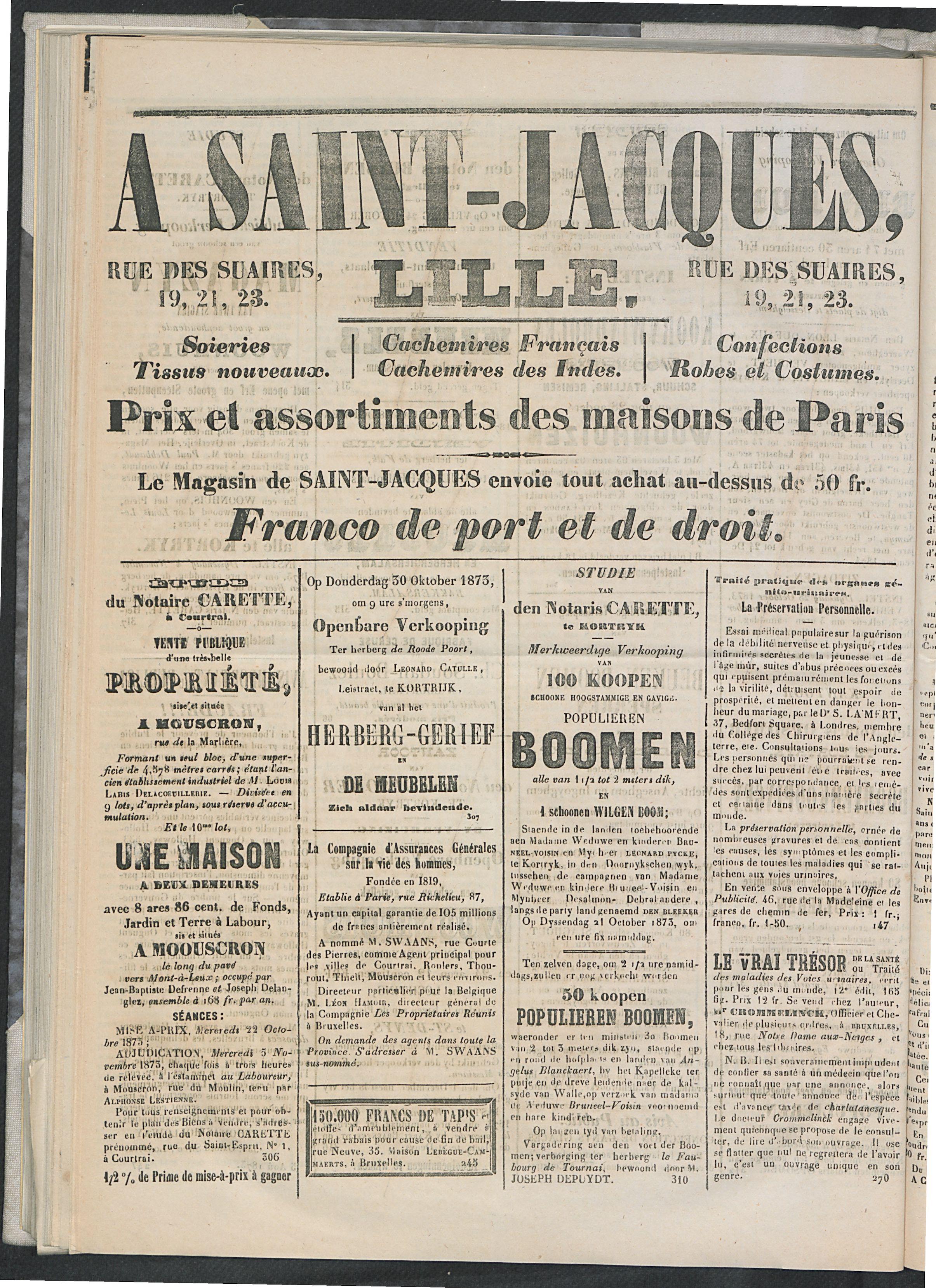 L'echo De Courtrai 1873-10-19 p4
