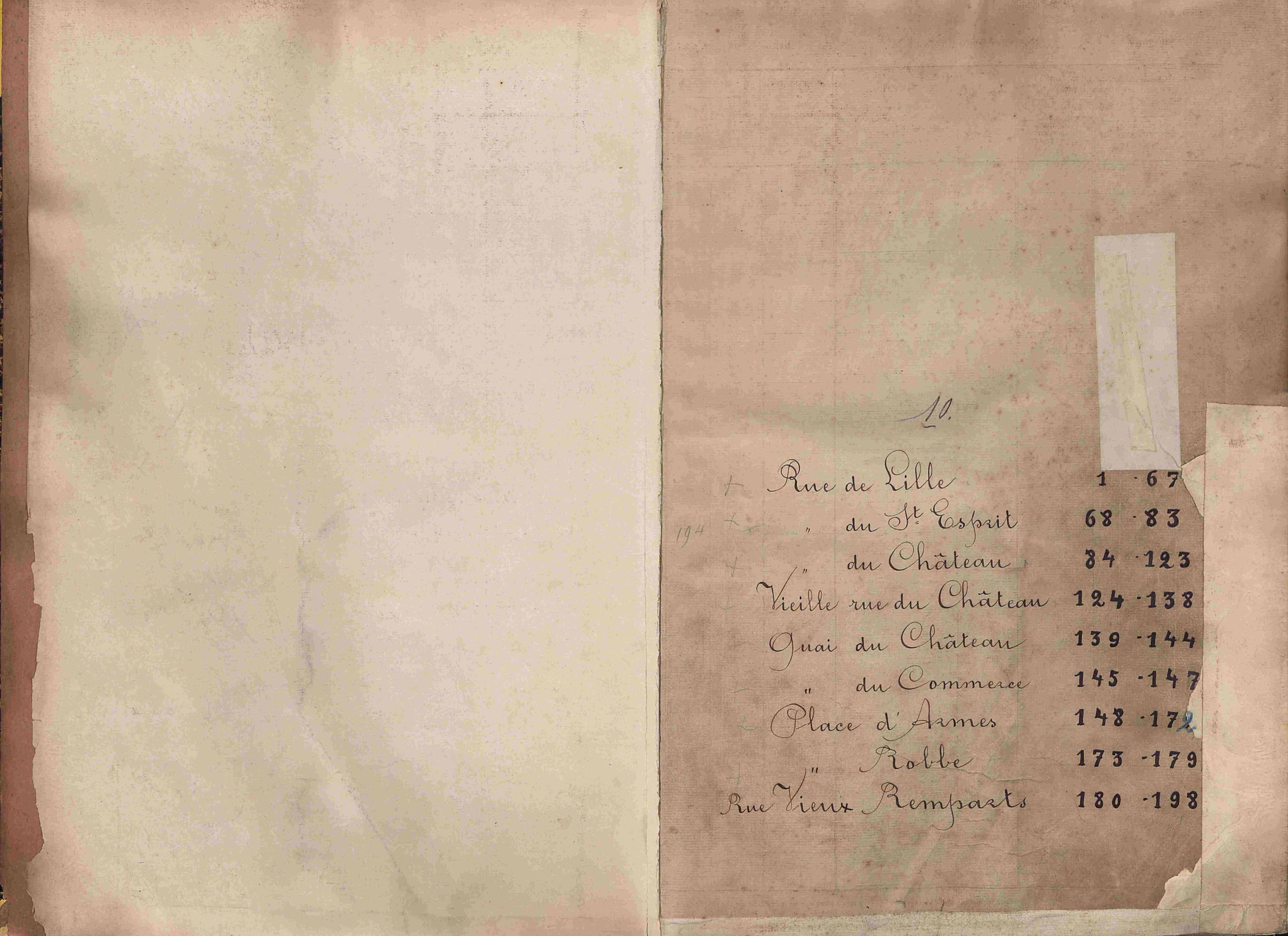 Bevolkingsregister Kortrijk 1890 boek 10