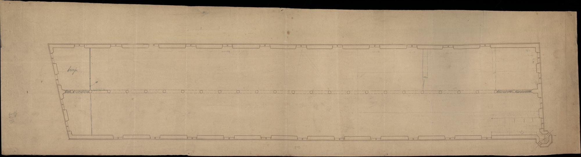Bouwplannen met plattegronden van de Grote Hallen te Kortrijk, 1906