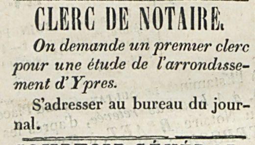 CLERC DE NOTAIRE.