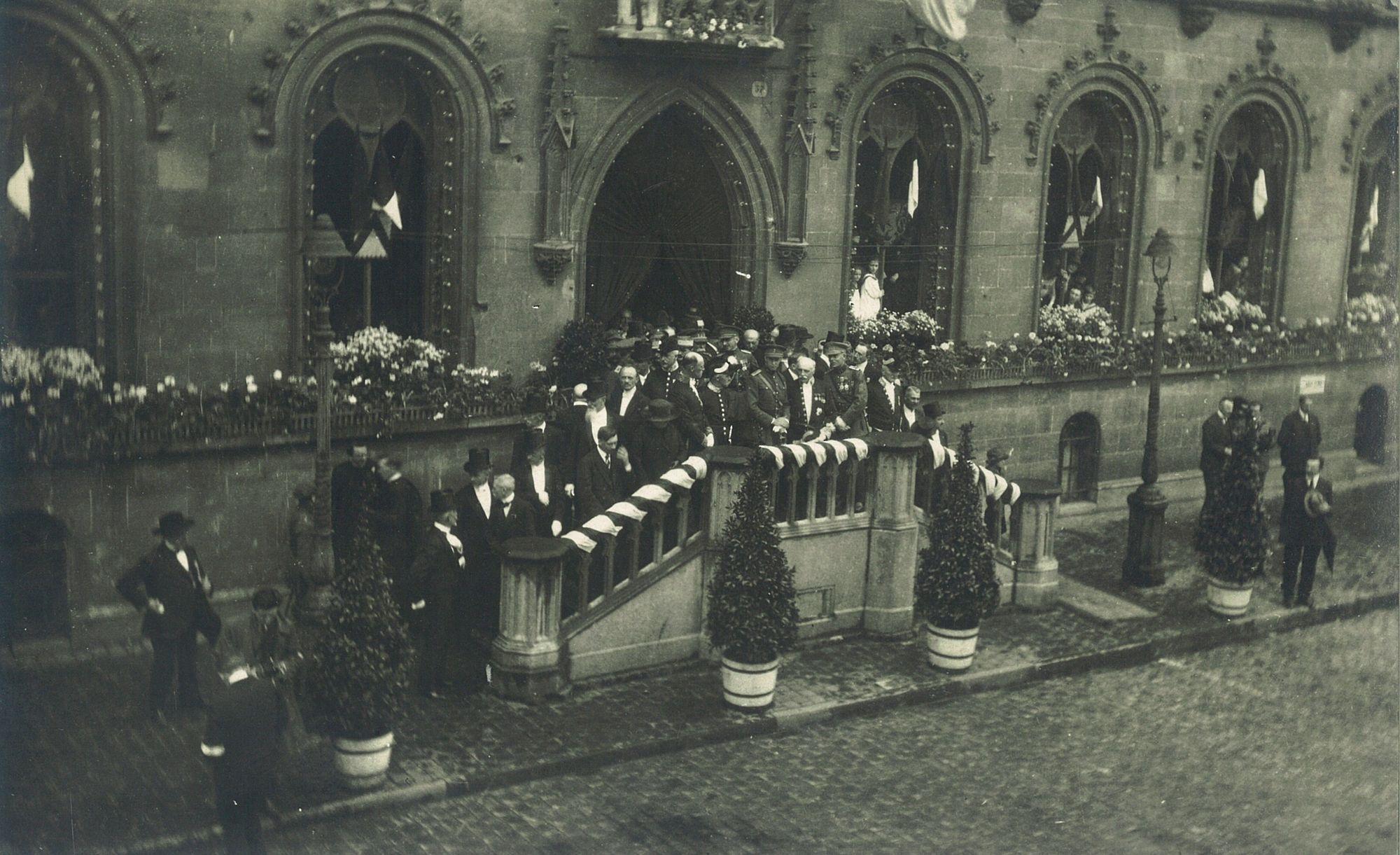Inhuldiging oorlogsmonument 1923