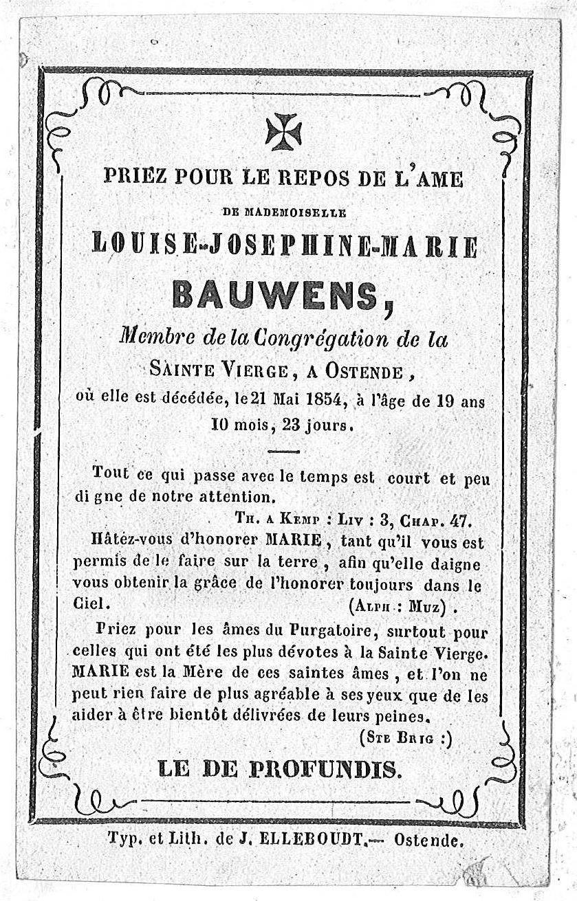 Louise-Josephine-Marie Bauwens