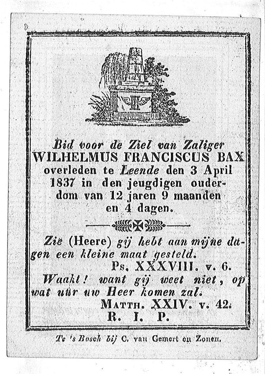 Wilhelmus Franciscus Bax