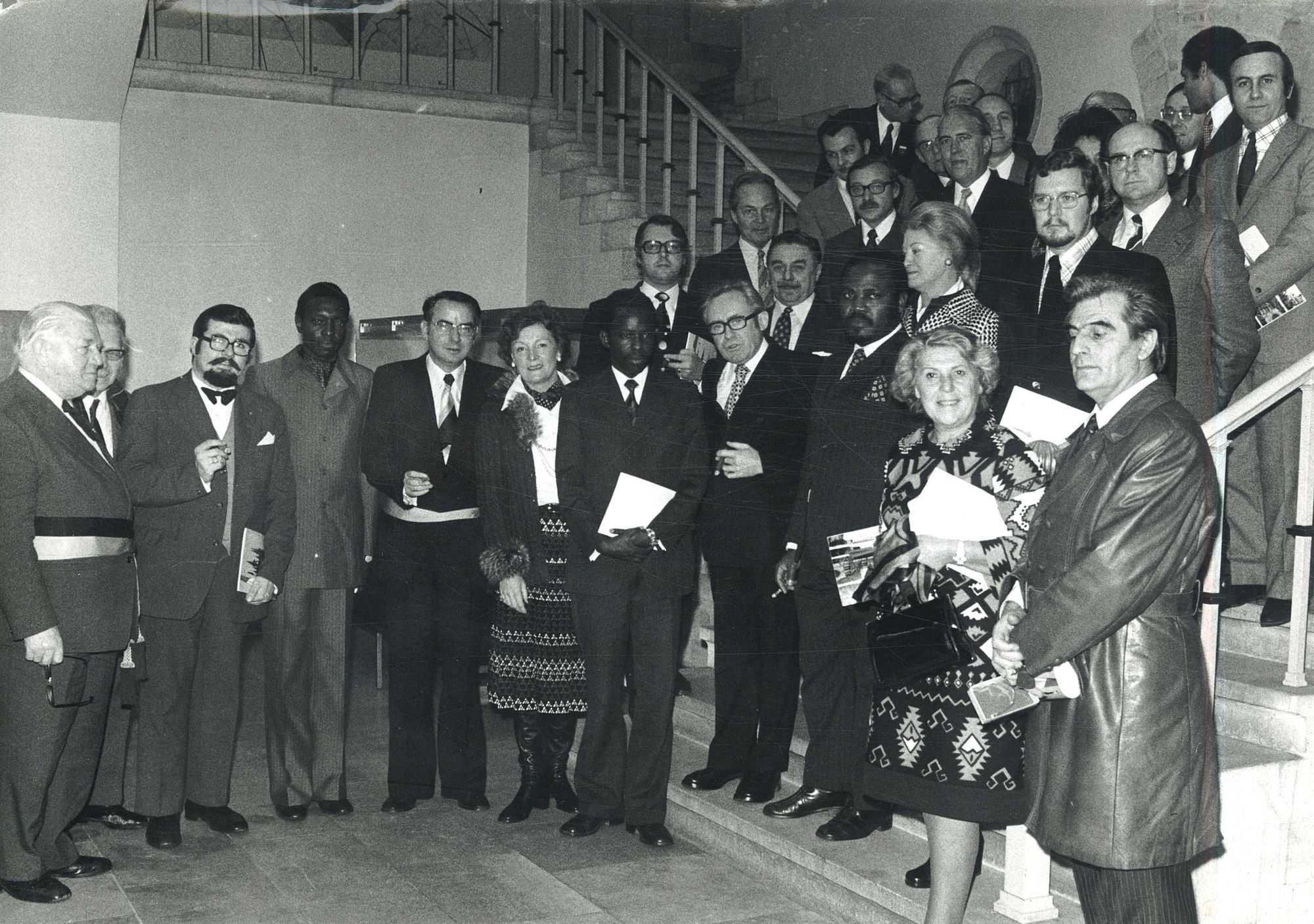 Afrikaanse vertegenwoordiging op het stadhuis