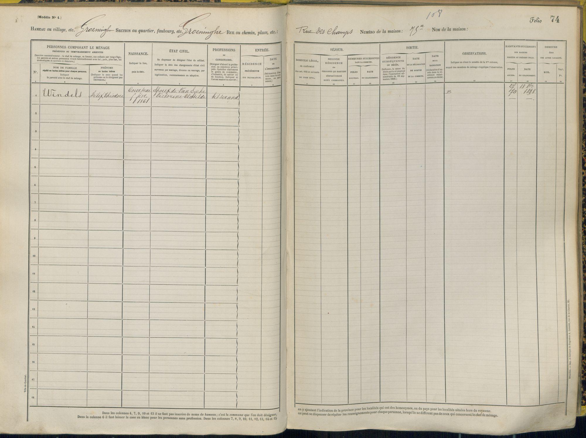 Bevolkingsregister 1890 boek 41