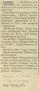 Paasfoor 1905: Journal de Courtrai