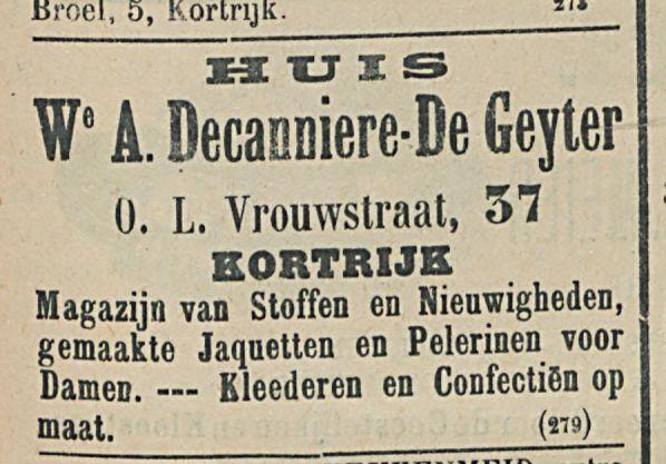 We A Decanniere-De Geyter