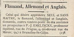 Flamand, Allemand et Anglais