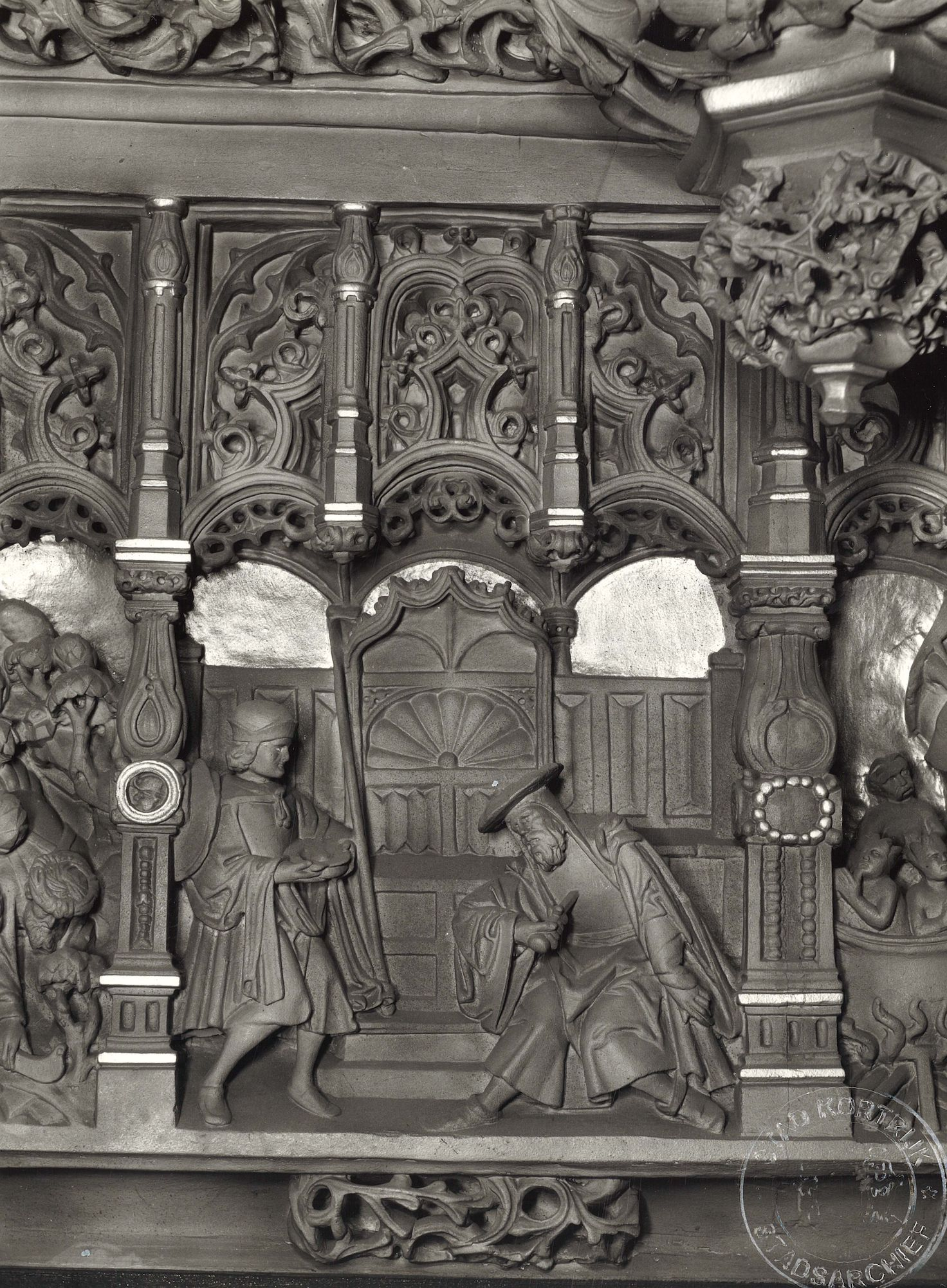 Oude raadzaal Kortrijks stadhuis