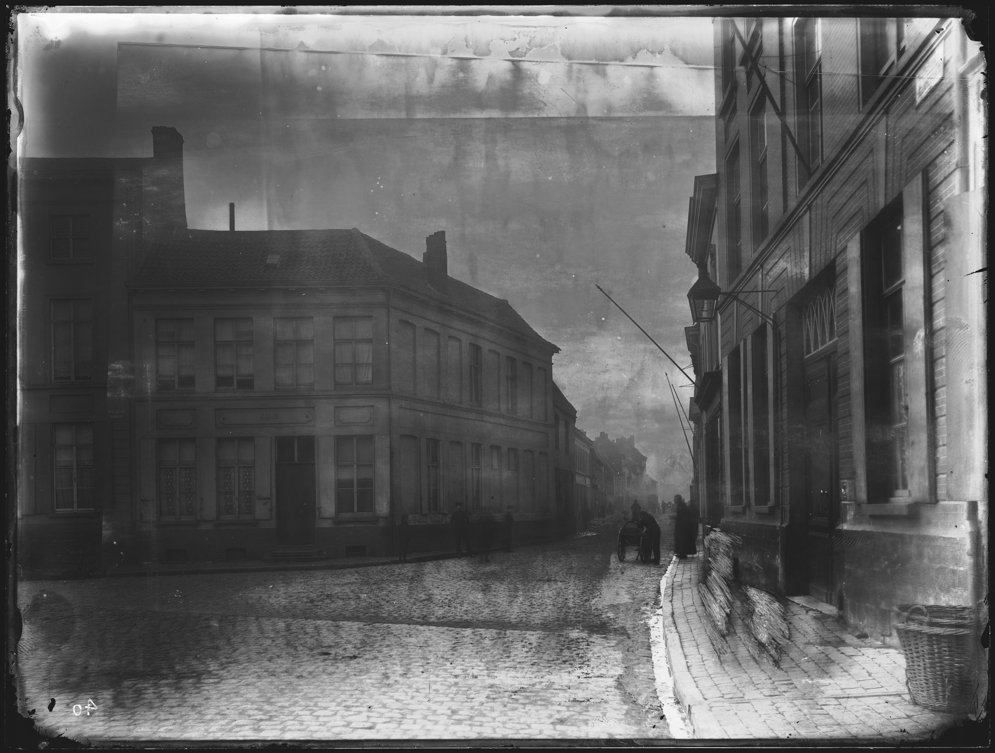 Overleiestraat circa 1900