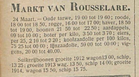 Markt van Rousselare