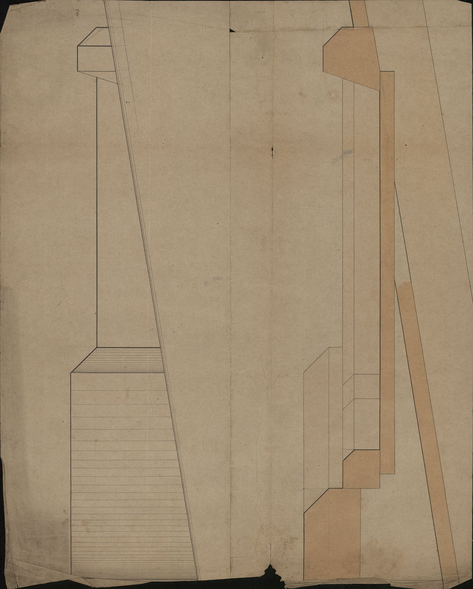 Bouwplannen van het Sint-Amandscollege te Kortrijk, 19de eeuw