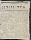 L'echo De Courtrai 1870-11-25 p1