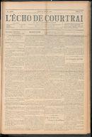 L'echo De Courtrai 1910-10-20 p1