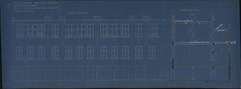 Bouwplannen van de stadsmeisjesschool in de Beheerstraat te Kortrijk, 1887-1936