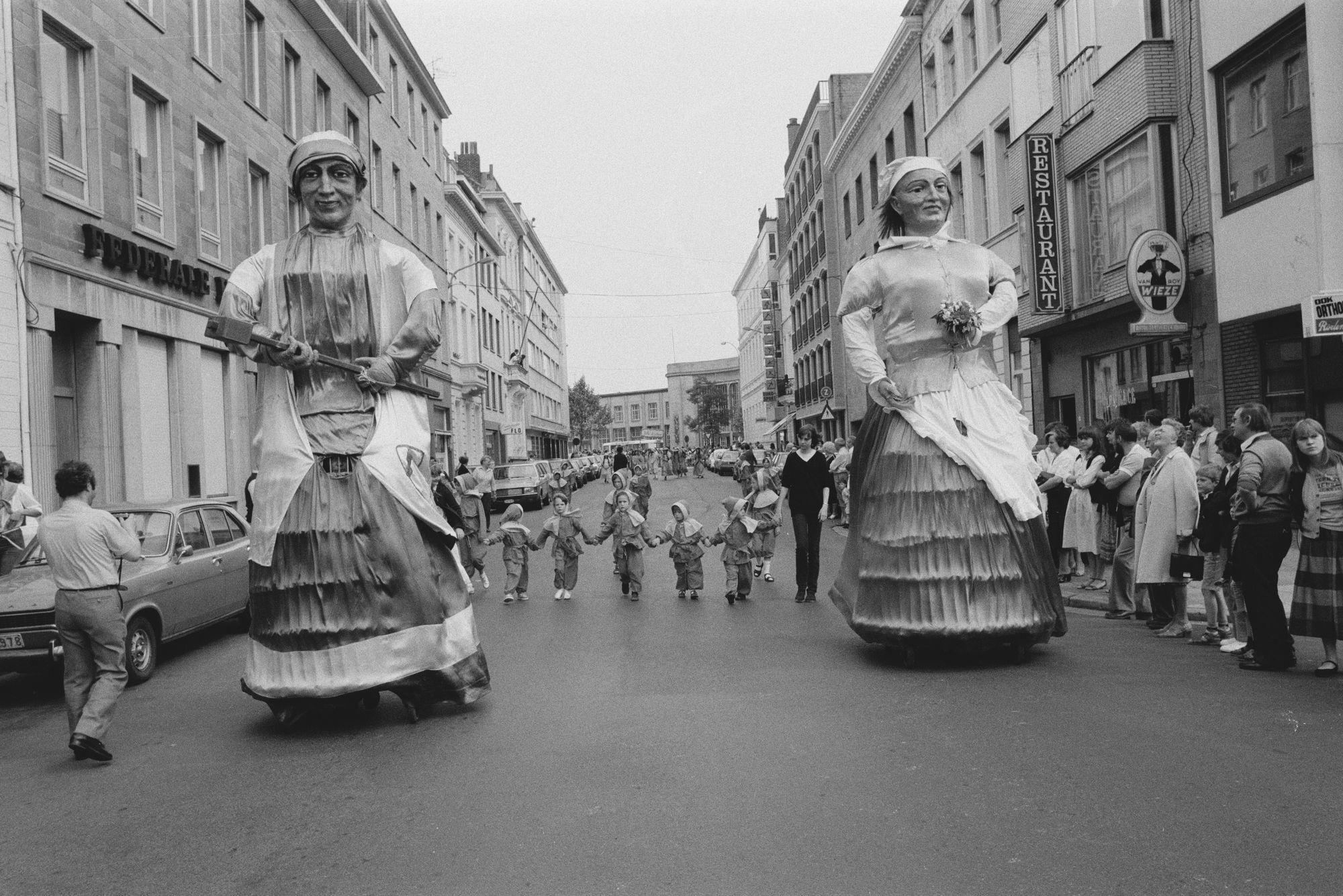 Manten en Kalle tijdens de Sinksenfeesten 1981