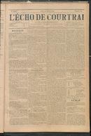 L'echo De Courtrai 1897-10-21 p1