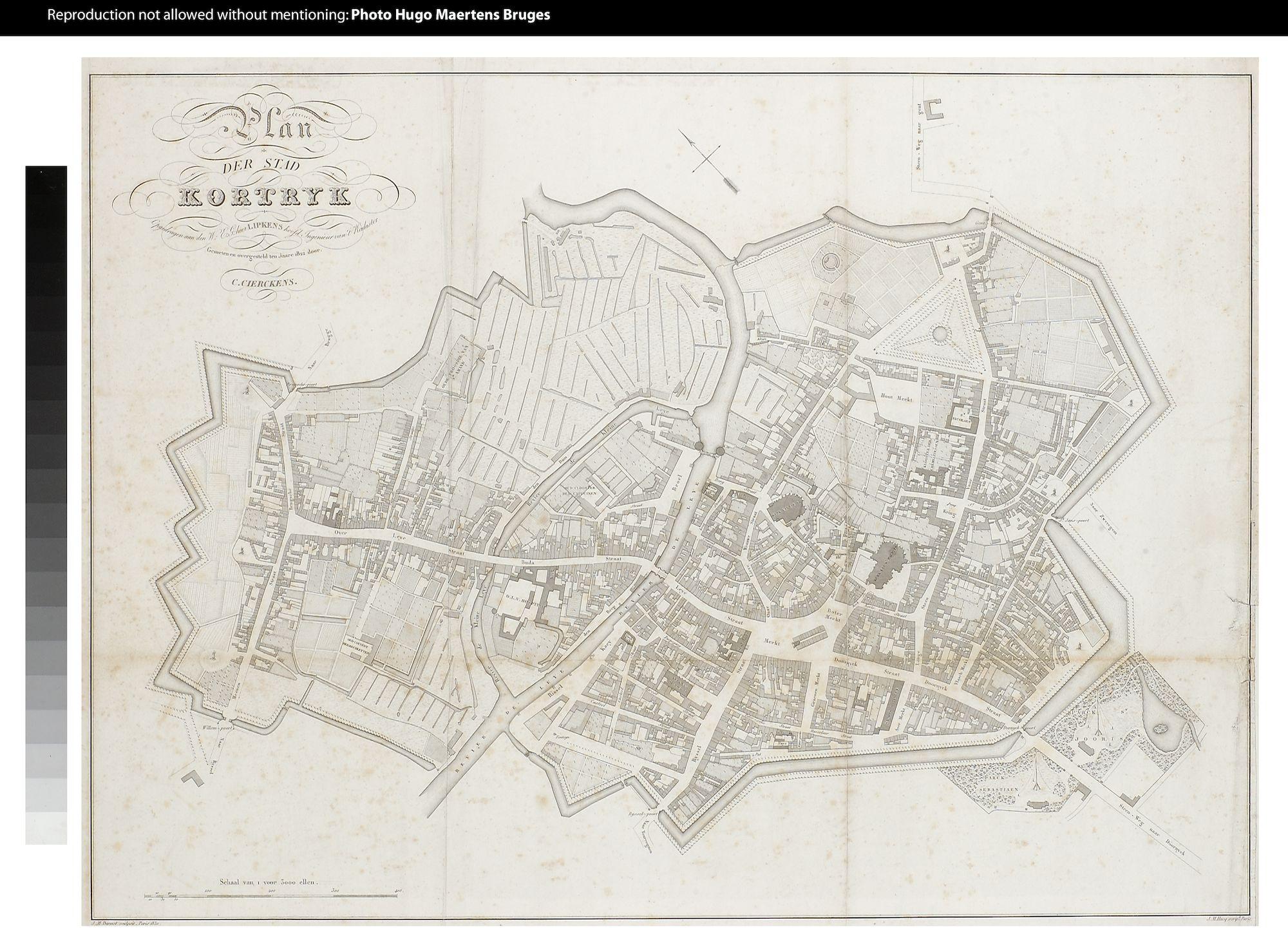 Westflandrica - Kortrijk, stadsplan
