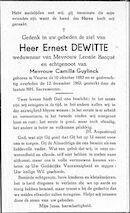 Ernest Dewitte
