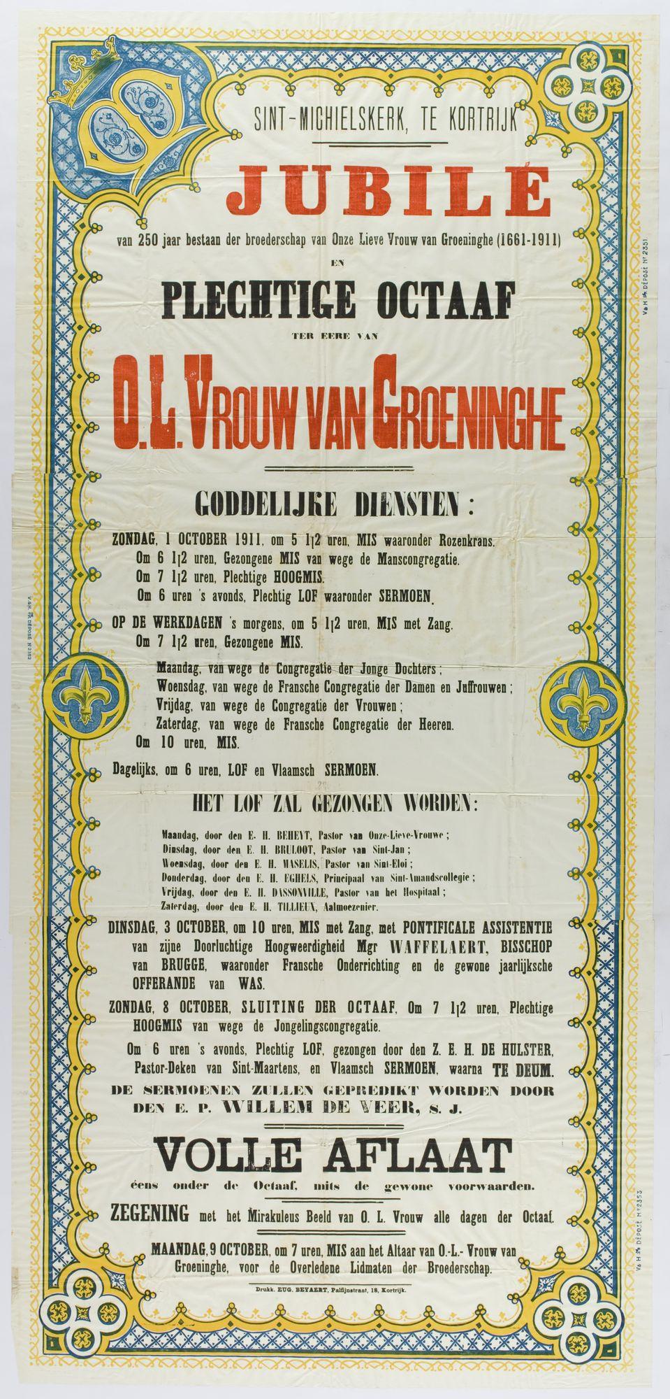 Plechtigheden Sint Michielskerk 1911