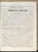 L'echo De Courtrai 1858-07-14 p1