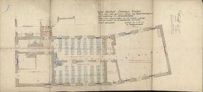 Bouwplannen van de inrichting van de stadsbibliotheek in de gewezen Berg van Barmhartigheid te Kortrijk, 1926-1927