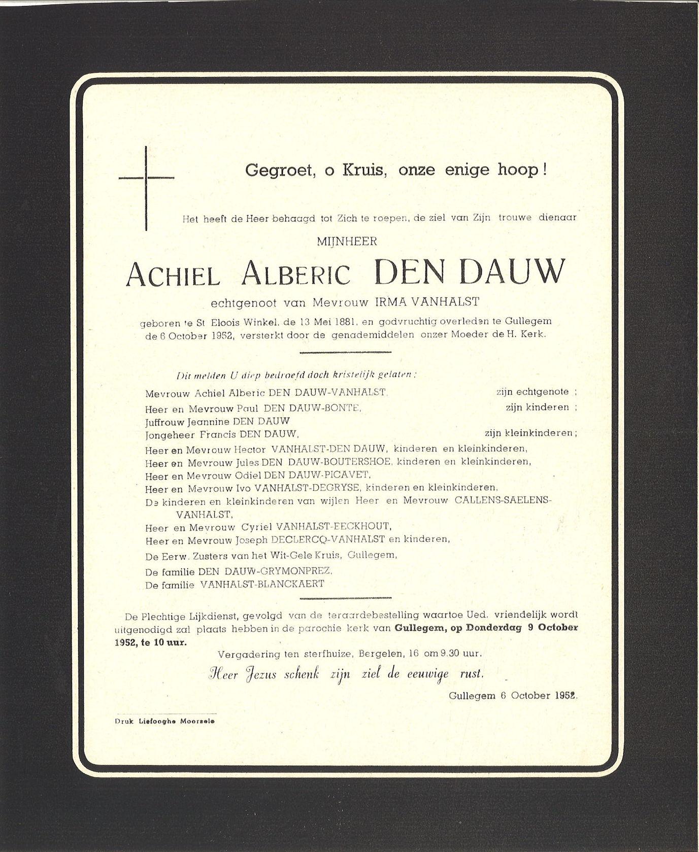 Achiel Alberic Den Dauw
