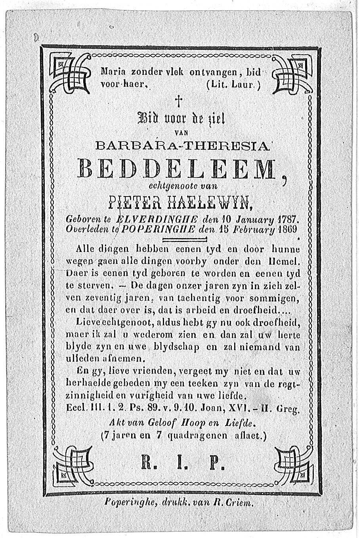 Barbara-Theresia Beddeleem