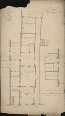 Bouwplan van de verbouwing van het politiebureau te Kortrijk, 1874