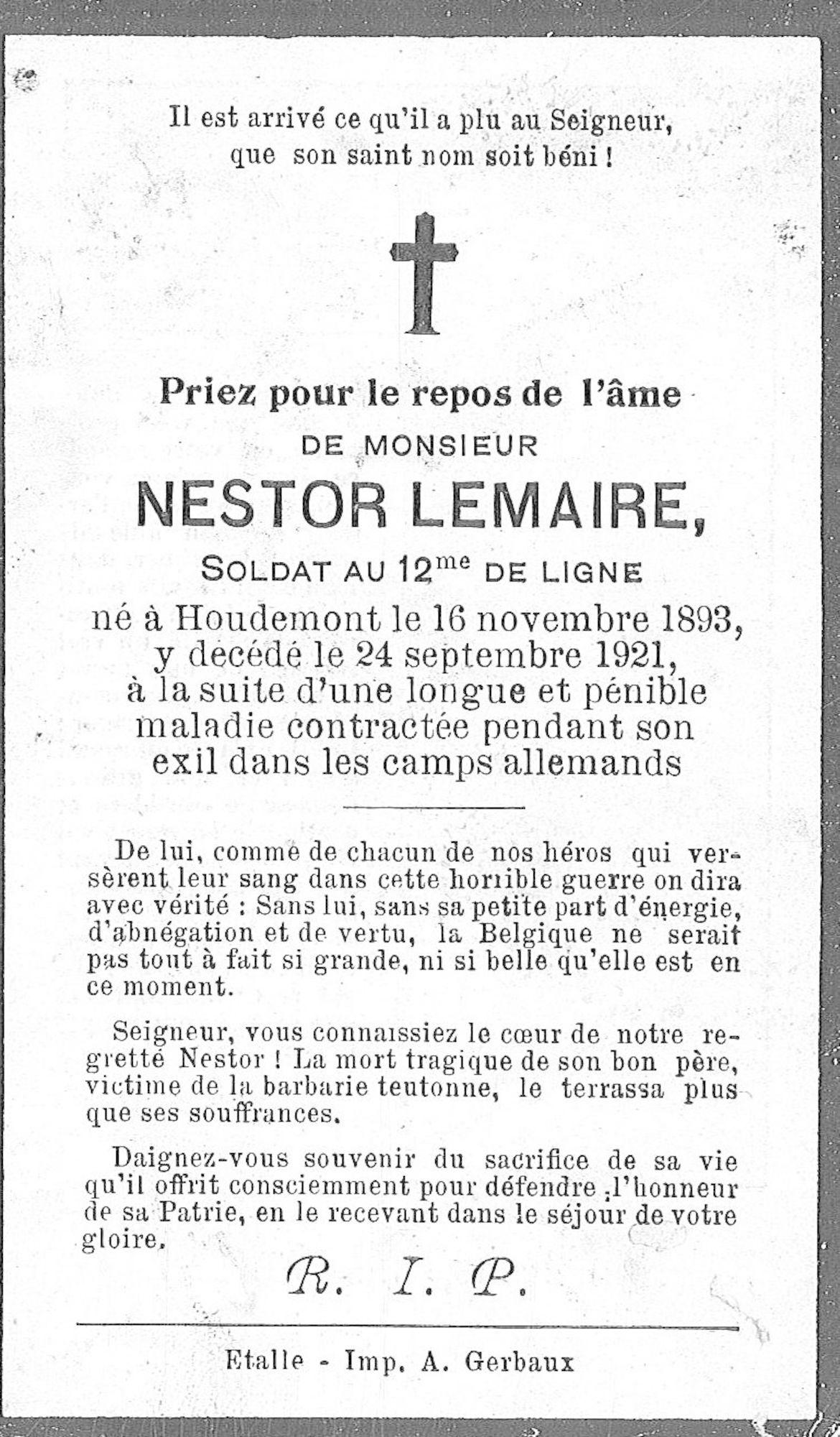 Lemaire Nestor