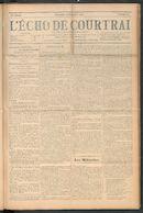 L'echo De Courtrai 1910-09-18 p1
