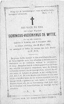 Dominicus-Hieronymus De Witte