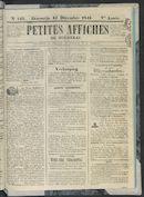 Petites Affiches De Courtrai 1841-12-12