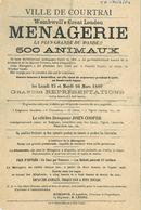 Paasfoor 1889: Menagerie Wombwell's (Londen)