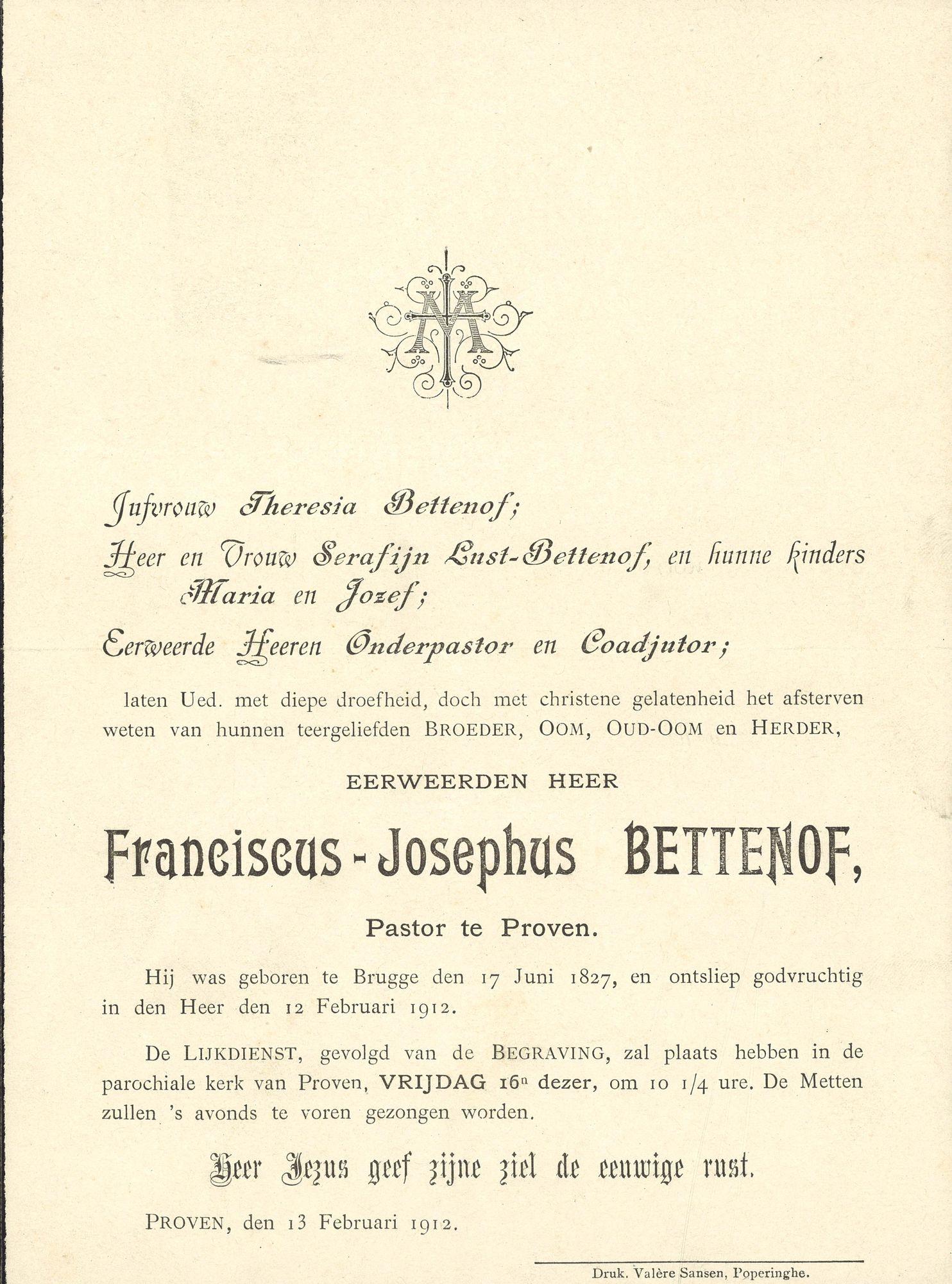 Franciscus-Josephus Bettenof