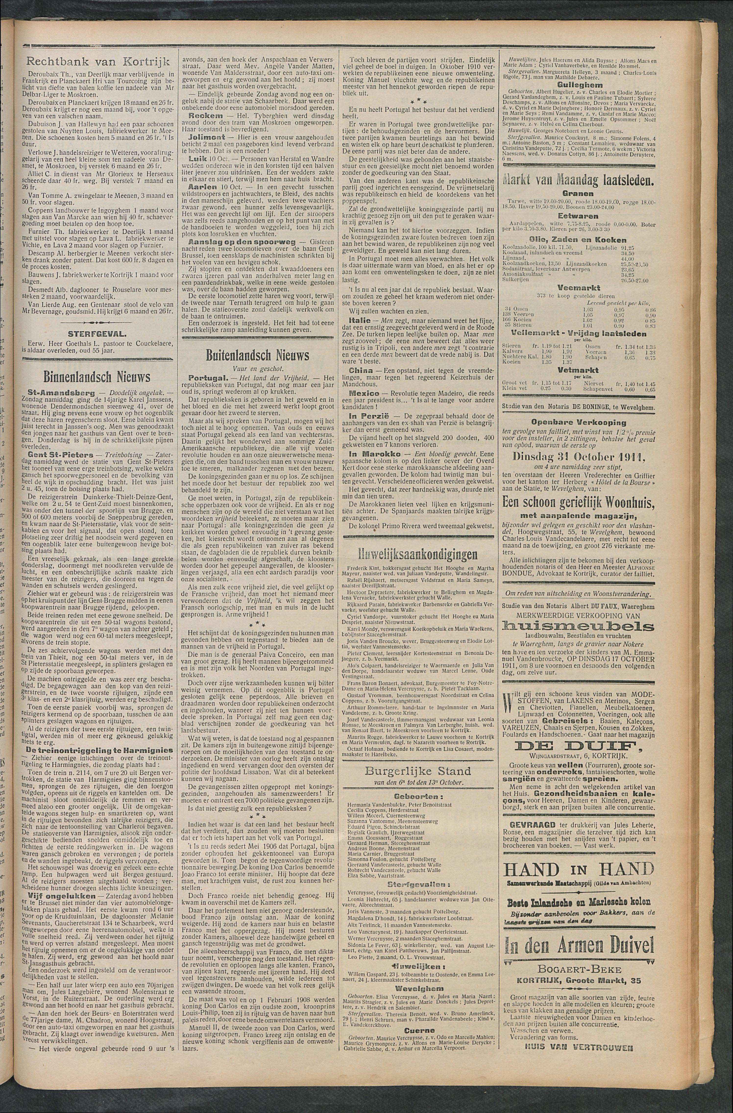Het Kortrijksche Volk 1911-10-15 p3