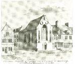 Sint-Joriskapel met gasthuis ca 1813