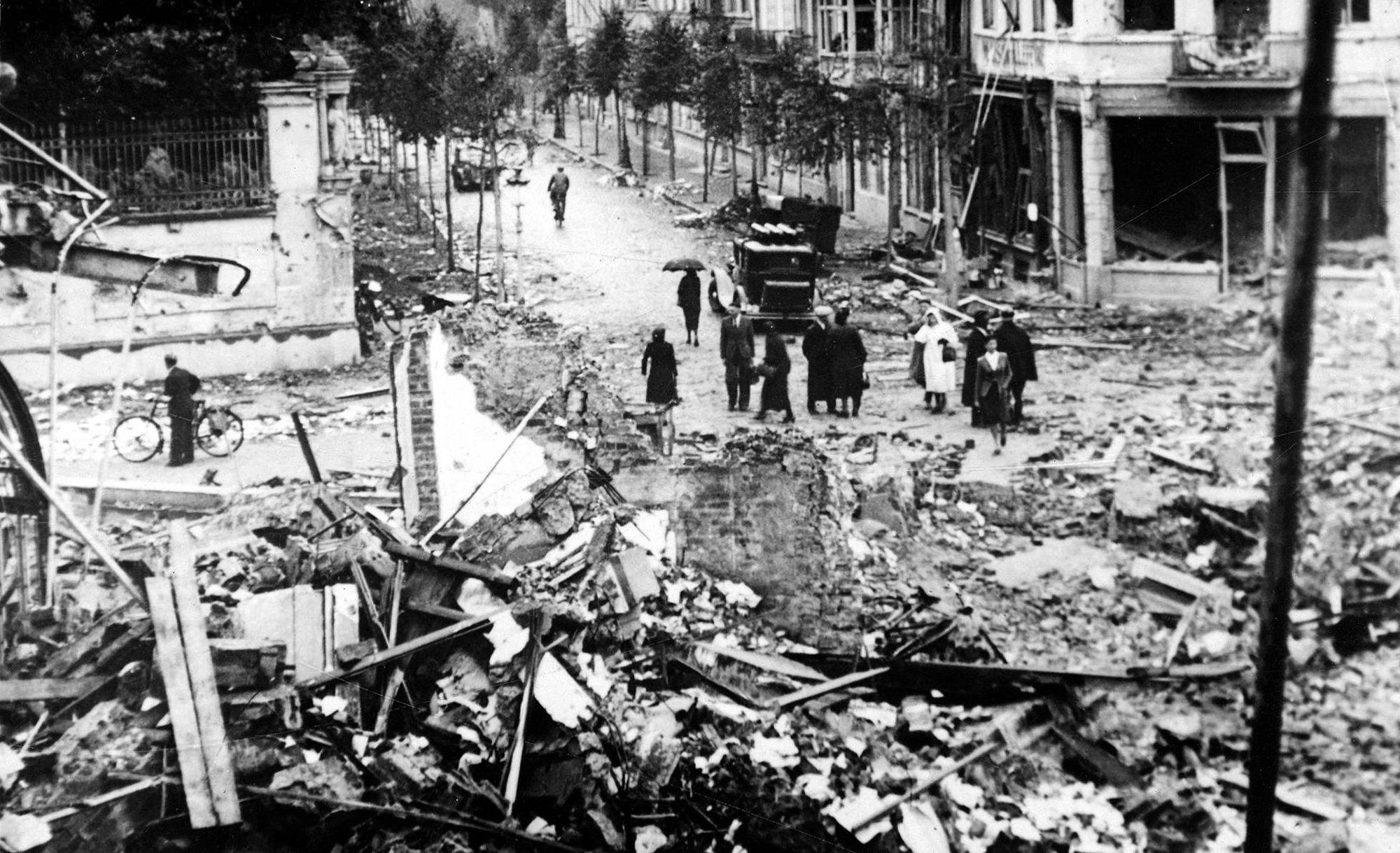 Kruispunt Waterpoort in 1944