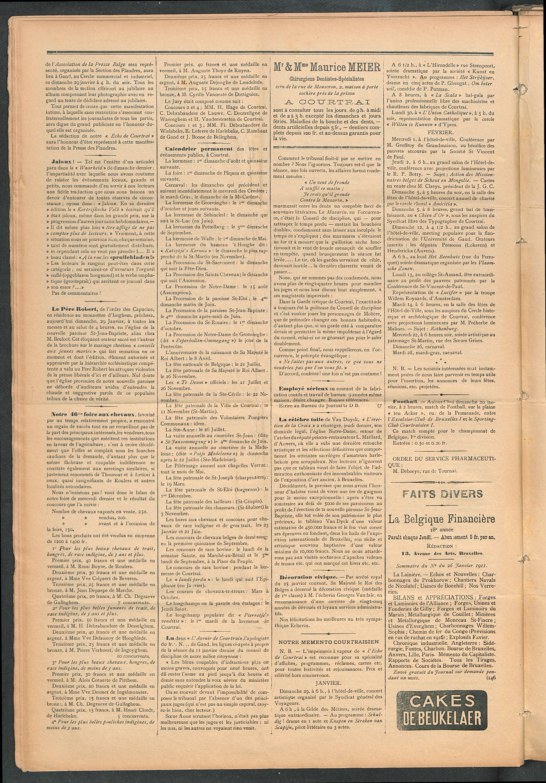 L'echo De Courtrai 1911-01-29 p2